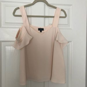 Topshop Ruffle Sleeve Off The Shoulder Top